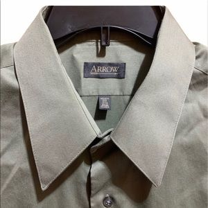 Arrow Olive Green Button Up Long Sleeve